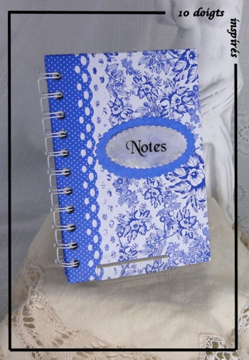romantic blue notebook ............carnet  ROMANTIQUE  Bleu