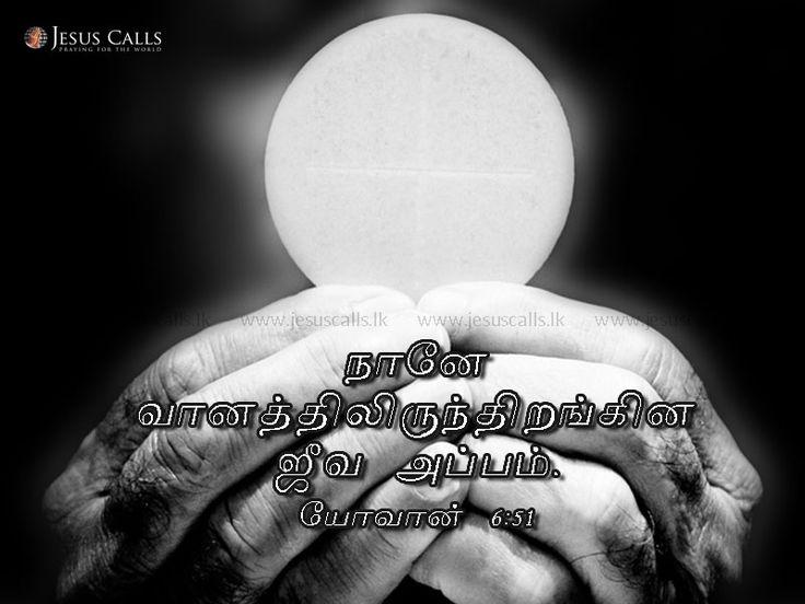 நானே வானத்திலிருந்திறங்கின ஜீவ அப்பம். யோவான் 6:51