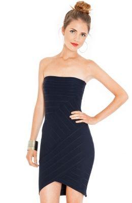 Elegantné krátke šaty (prom šaty)  Strapless Bodycon