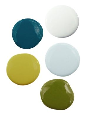 Blue and Green Color Palette - so pretty - the blue is the color of Amber and Dustin's Kitchen. Hmmmm