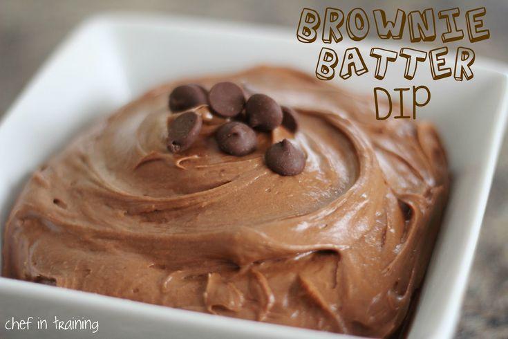 Brownie Batter Dip!  This tastes DELICIOUS!