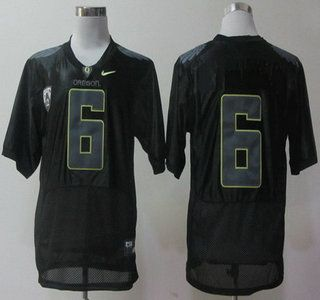 Oregon Ducks Jersey 6 Charles Nelson Pro Combat Black Jerseys