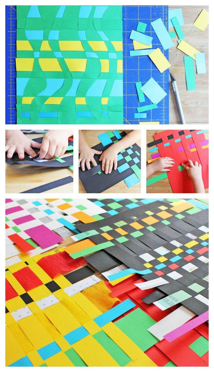 Paper Weaving Activity for Kids