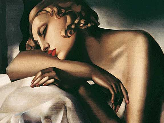 The Sleeper by Tamara de Lempicka 1932. Style: Art Deco portrait