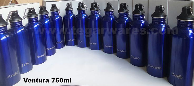 Ventura 750 blue: personalize your stuff with Ventura 750ml, printed logo name by name, one by one.