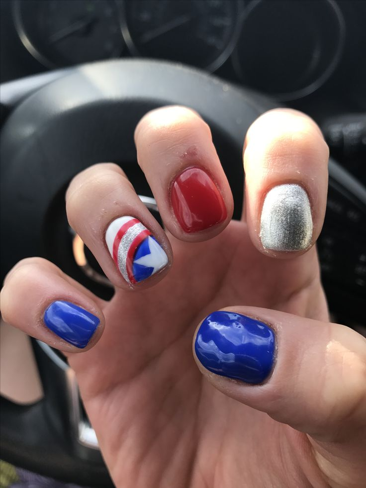 Captain America nails by the fabulous Crystal Le!!!