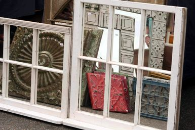 5 Ways to Repurpose Old Windows as Wall Decor: Mirrors made from old windows
