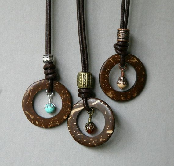 Unisex Coco Wood Leather Corded Eyeglass Necklace by GemNEyes, $18.00