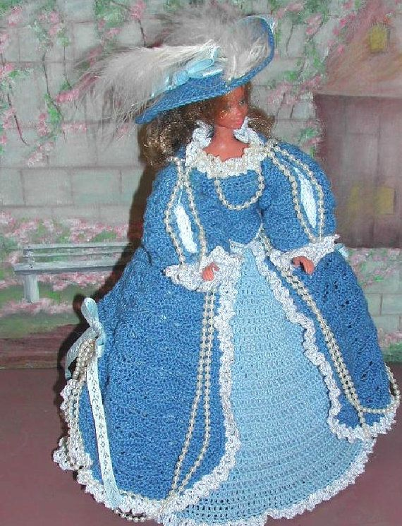 Crochet Fashion Doll Barbie Pattern 77 RUBENS by JudysDollPatterns