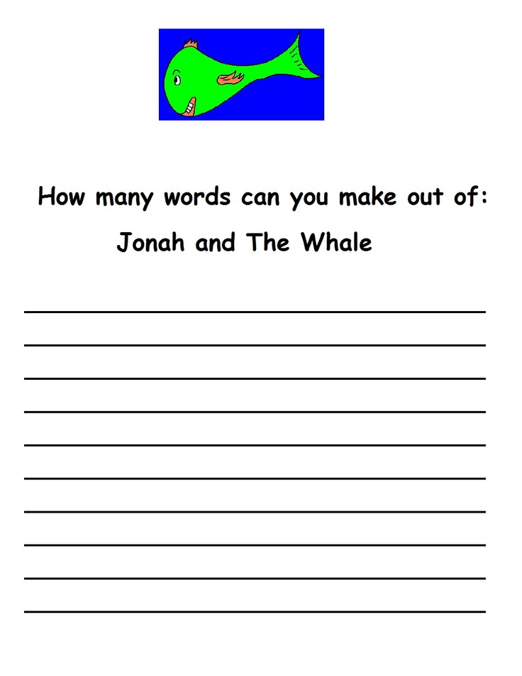 Printable Worksheets jonah and the whale worksheets : 24 best Jonah and the Whale images on Pinterest | Bible stories ...
