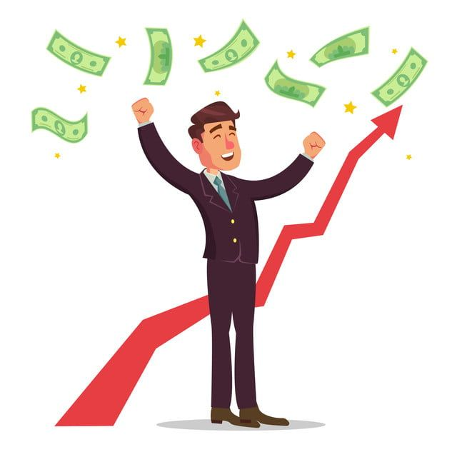 Happy Businessman Vector Money Bills Falling Office Worker Getting A Lot Of Money Poster With Winner Cheerful Manager Isolated Character Cartoon Illustration S Business Cartoons Cartoon Illustration Money Poster