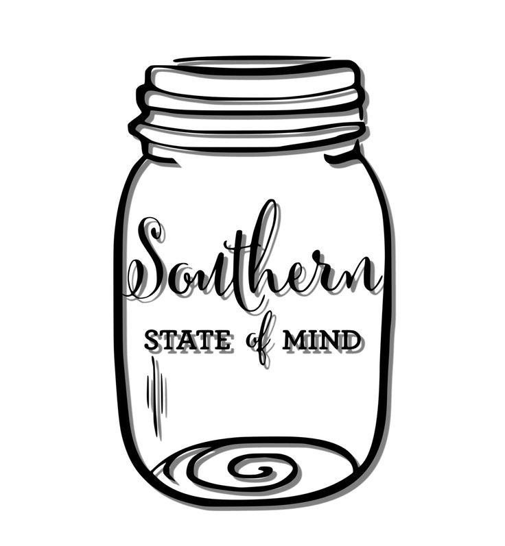 Südlichen Bundesstaat Mind Ball Einmachglas von MeadowFlowerDesigns