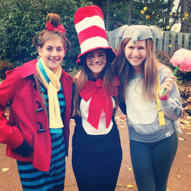 diy halloween costumes cat in the hat cindy loo hoo and horton - Cat In The Hat Halloween Costume Ideas