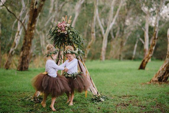 Floral teepee and tutu shoot