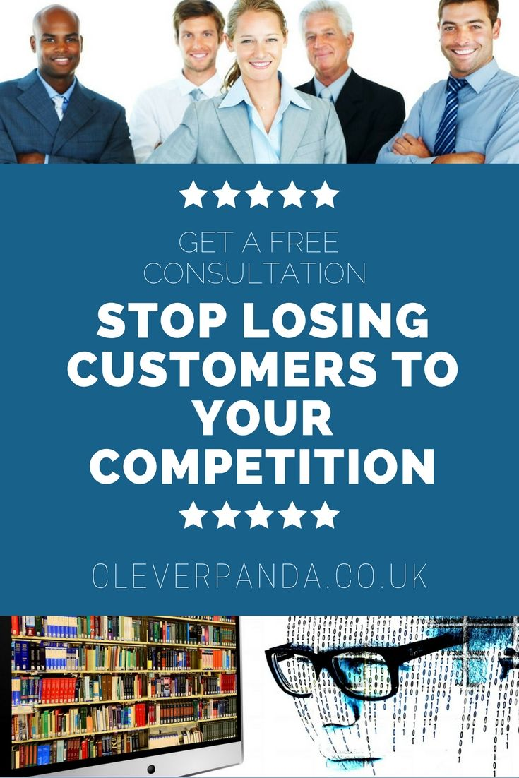 STOP LOSING CUSTOMERS TO YOUR COMPETITION Call Now: 0333 006 2297 GET A FREE CONSULTATION http://cleverpanda.co.uk/ #marketingconsultantLondon #facebookadvertising #displayadvertising #emailmarketing #localsearchoptimization #reputationmanagement #retargeting #socialmediamarketing #webdesign #London