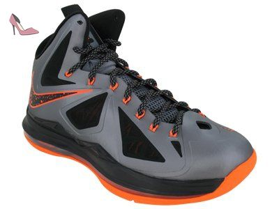 NIKE LeBron x pour homme Hi Top Basketball Formateurs 541100 Sneakers Chaussures James - multicolore - charcoal total orange black 002, 44 EU - Chaussures nike (*Partner-Link)