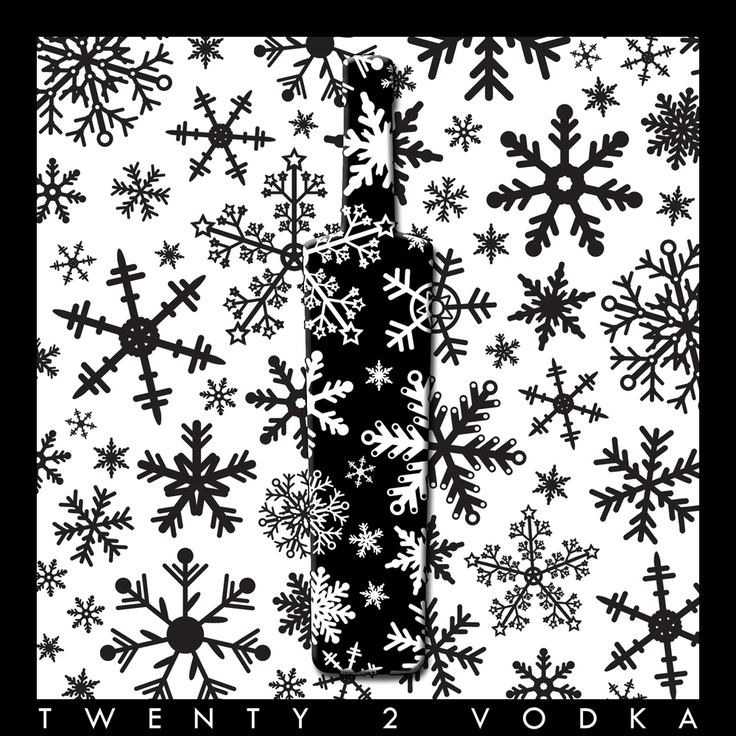 B and White square snowflakes