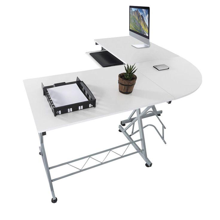 white corner office desk. ways to make white corner office desk dont look boring l