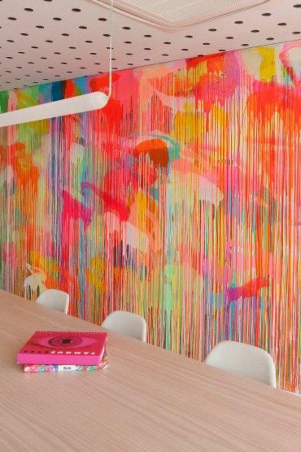die besten 25+ wandgestaltung mit farbe ideen auf pinterest - Wandgestaltung Mit Drei Farben