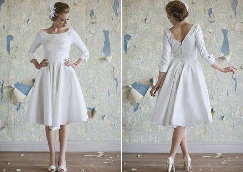 Audrey Dress – $250  Another amazing vintage dress. A classic A-line with ¾ length sleeves and our favorite adornment, pockets. Would also look fabulous with a belt.