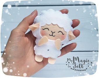 Ornement de mouton ornement mignon agneau feutre agneau ornement Pâques mouton feutre décor mignon cadeau de Pâques petit agneau feutre ornements jouet d'agneau de Pâques