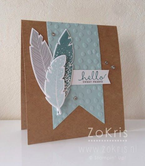ZoKris: Short & Sweet part of pinterest board: cards-feathers