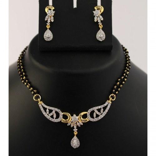 Indo-western Mangalsutra Necklace Set