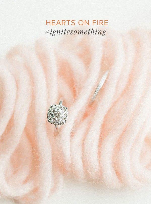 engagement ring by Hearts on Fire (@heartsonfireco @stylemepretty) #ignitesomething #heartsonfire   http://ruffledblog.com/ignitesomething-with-hearts-on-fire
