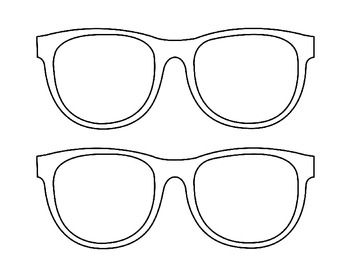 Two outlines of sunglasses, outlined, on the page. Great for Back to School projects, when students reflect on the shades of summer. I have also used them for perspective drawing to accompany writing.