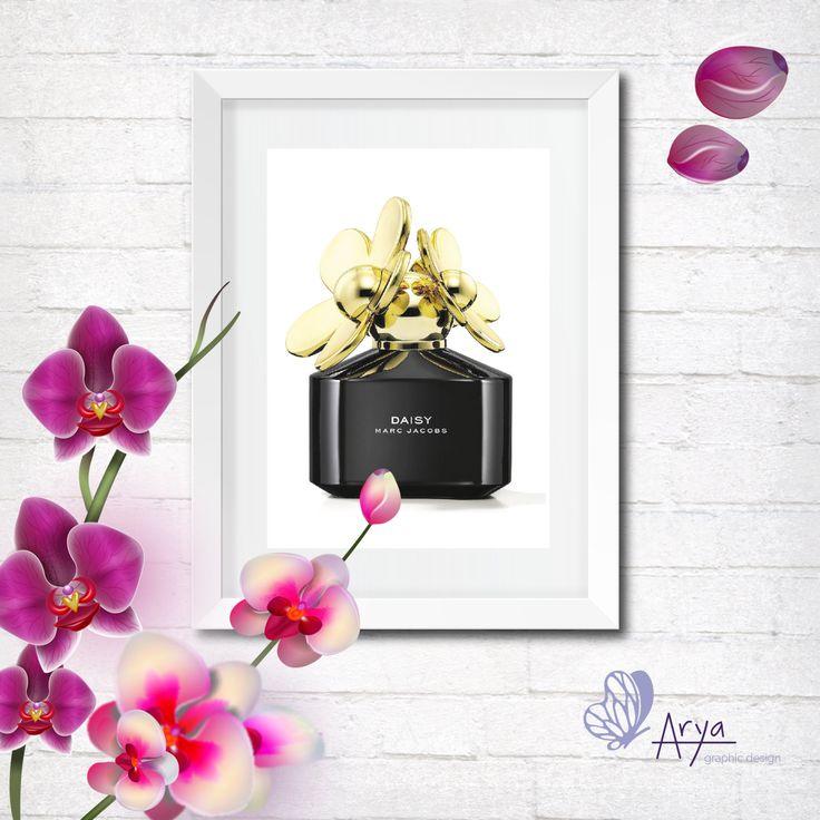 Marc Jacobs Daisy Perfume Bottle - Digital Illustration, DIY, Motivational Poster, Printable Gift Idea, Wall Decor di AryaGraphicDesign su Etsy