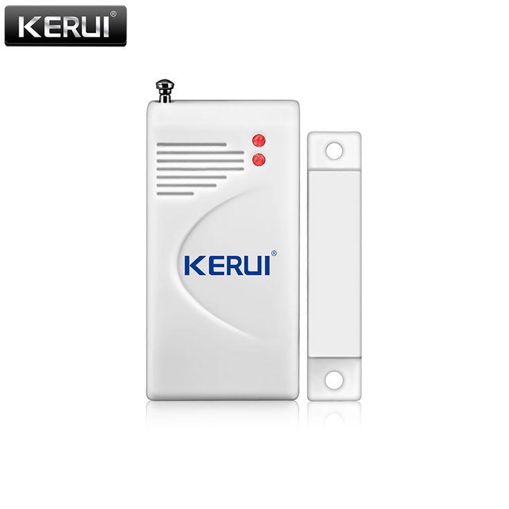 Nuevo sensor de apertura kerui 433 mhz wireless home ventana de alarma de seguridad/puerta sensor para detectar la puerta abierta