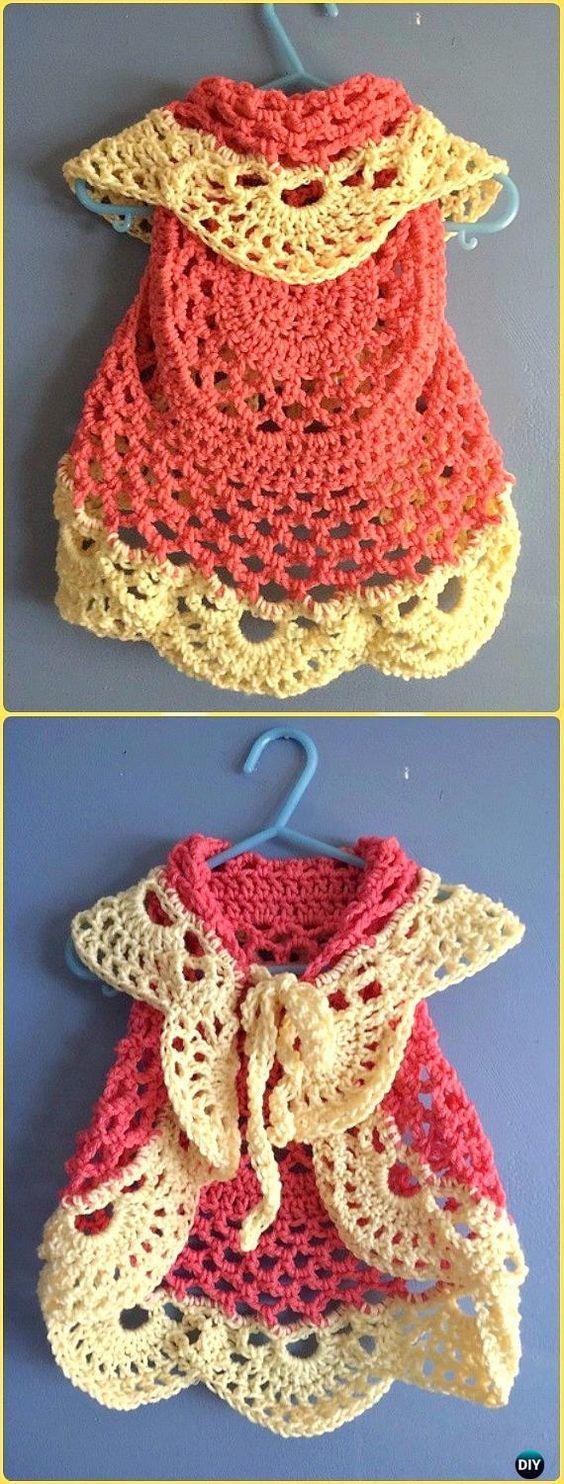 DIY Crochet Sunshine Circle Vest Free Pattern Instruction-Crochet Circular Vest Sweater Jacket Free Patterns