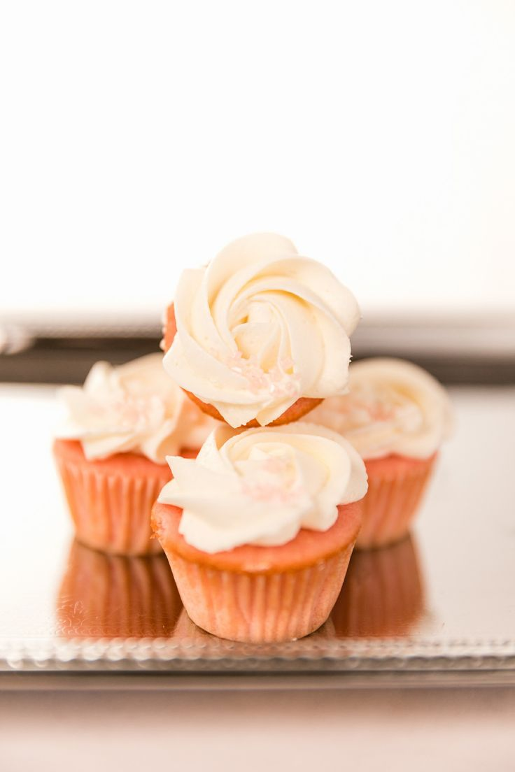 Pink Moscato Champagne Mini Cupcakes