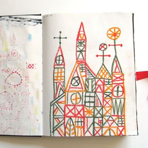A collaborative sketchbook Rob Dunlavey made with Scott Bakal. Want to do this!