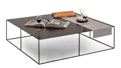 Table basse Slim Irony / 124 x 124 x H 34 cm Noir cuivré - Zeus