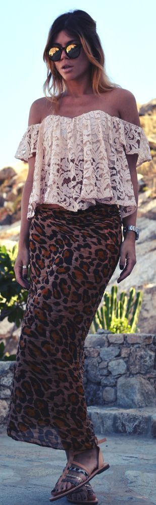 LEOPARD, STRIPS AND PRINTS  |  Zara Brown Low Rise Maxi Animal Print Sarong