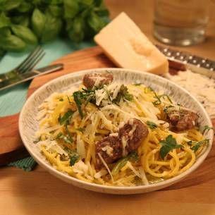 Pasta med oxfilè och broccoli - Recept från Mitt kök - Mitt Kök