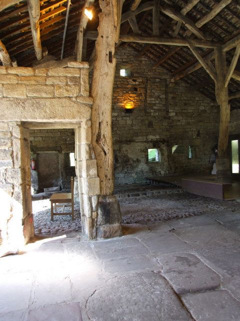 Aisled barn at Wycoller, restored as a visitor centre