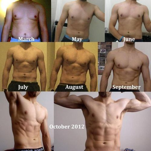 weight loss progress pictures male