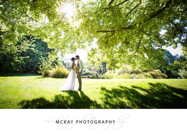 Stunning light through tree leaves - wedding at Gibraltar Hotel Bowral.  McKay Photography - http://www.mckayphotography.com.au