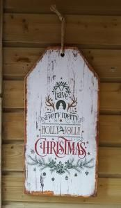 Kerst wandbord groot Holly Jolly - 8438479372411 - Avantius