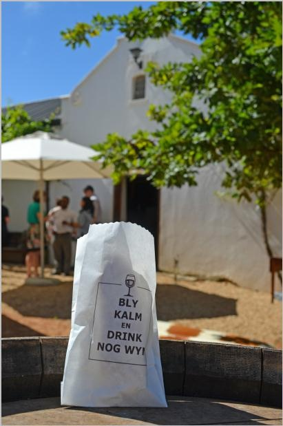Diemersdal's restaurant. Keep calm and drink more wine