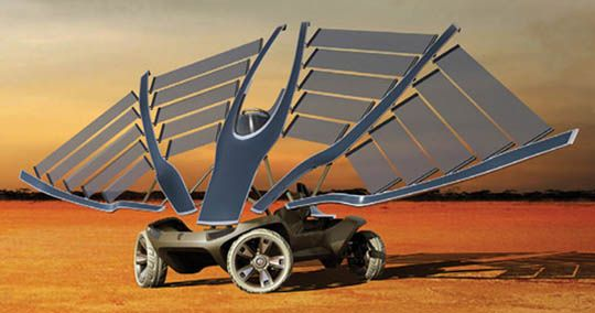 Solar cars combine technology found in the aerospace, bicycle, alternative energy and automotive industries. The design of a solar powered car is limited by the necessity of getting lots of energy from the sun and storing that energy in batteries. Almost all solar cars ever built have been for the purpose of solar car races. 3, 2 1, Liftoff!