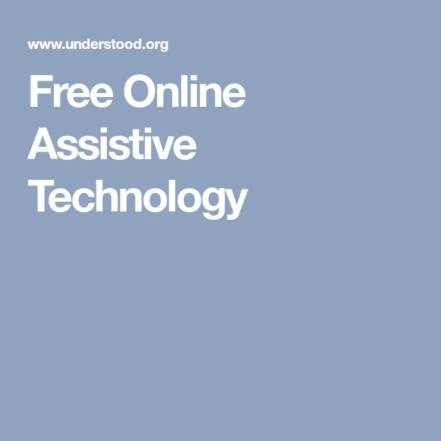 Free Online Assistive Technology