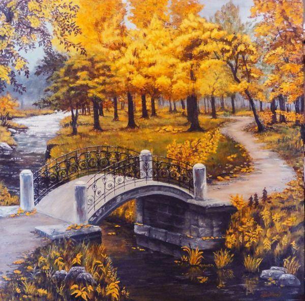 """Brilliant Autumn""   $200 USD plus shipping 24"" x 24"" x 1.5"" acrylic on gallery canvas"