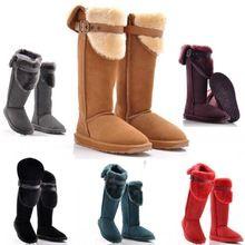 2014 nova inverno de couro joelho botas de neve sobre o joelho cavaleiro botas mulheres de algodão acolchoado sapatos frete grátis H817(China (Mainland))
