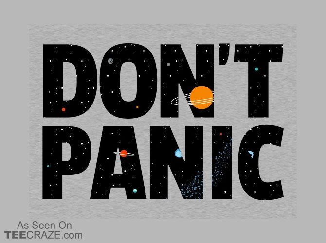 Hitchhiker's Guide to the Galaxy shirt.
