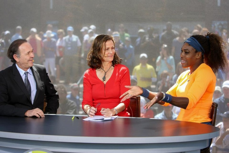 Defending Champion Serena gave a great interview on the #ESPN set after she won her SF match v Venus to advance to the Family Circle Cup Final. For once, Cliffy & that negative Pam Shriver woman focused their questions on tennis. #Progress