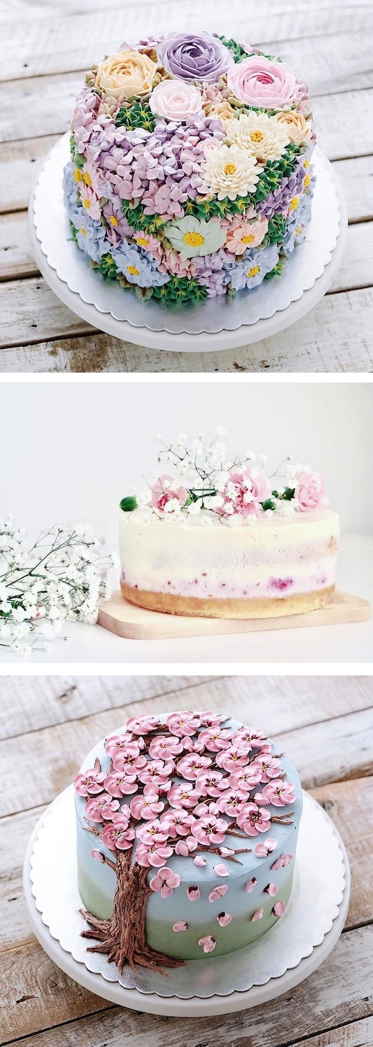 Buttercream flower cakes // flower cakes // buttercream cakes