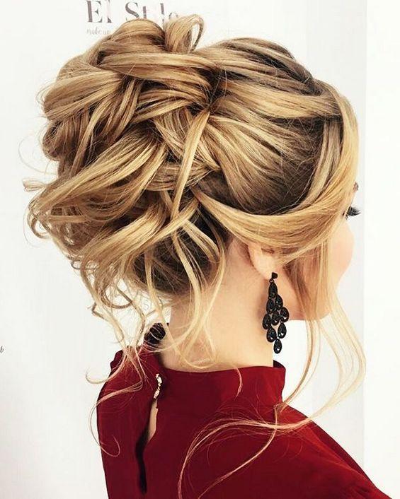 Long Wedding Hairstyles & Bridal Updos via Elstile / http://www.deerpearlflowers.com/long-bridesmaid-hair-bridal-hairstyles/